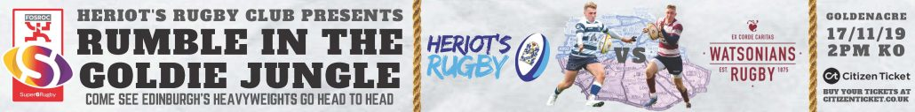 Tickets for Heriot's Rugby v Watsonians Rugby